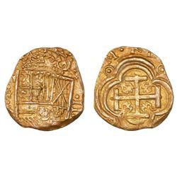 Bogota, Colombia, cob 2 escudos, Philip IV, assayer A, NGC AU 58, ex-Mesuno Hoard (designated on lab