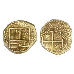 Bogota, Colombia, cob 2 escudos, 1659R, PCGS AU58.