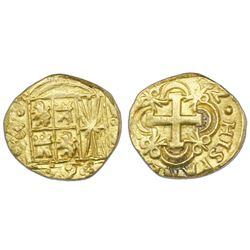 Bogota, Colombia, cob 2 escudos, (17)52S.