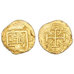 Cartagena, Colombia, cob 2 escudos, assayer E below mintmark RN to right (style of 1627-9).