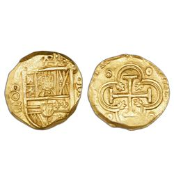 Madrid, Spain, cob 2 escudos, Philip III, assayer G below vertical mintmark MD (monogram) to left, N