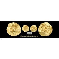 Seville, Spain, cob 2 escudos, 1617G, rare, ex-Atocha (1622).
