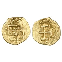 Seville, Spain, cob 1 escudo, Philip III, assayer B.
