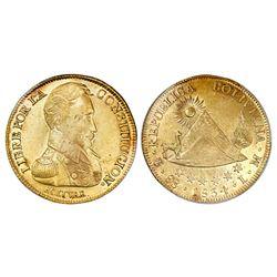 Potosi, Bolivia, 8 scudos, 1834LM, PCGS MS61.
