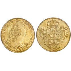 Brazil (Rio mint), 6400 reis, Jose I, 1776-R, NGC AU 53, ex-Eliasberg (stated on label).