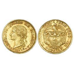 Popayan, Colombia, 20 pesos, 1874/3.