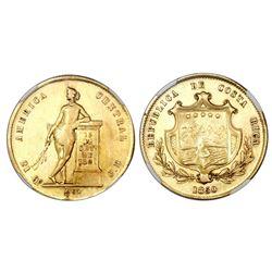 Costa Rica, 1/2 onza (4 escudos), 1850JB, NGC XF details.