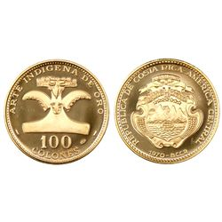 Costa Rica, proof 100 colones, 1970.