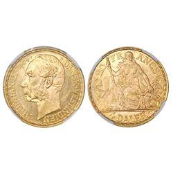 Danish West Indies, 4 daler / 20 francs, Christian IX, 1904, NGC MS 63.