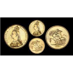 Great Britain (London, England), five pounds, Victoria, 1887, PCGS MS63.