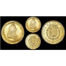 Guatemala, bust 8 escudos, Ferdinand VI, 1757J, rare, NGC VF 35.