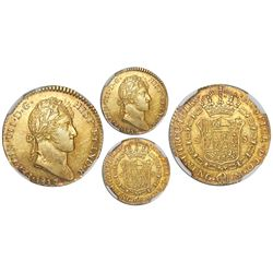 Guatemala, bust 2 escudos, Ferdinand VII, 1817M, rare, NGC AU 55.