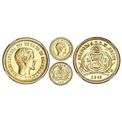 Guatemala, 2 pesos, 1859, NGC AU 55, ex-Richard Stuart (stated on label).