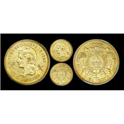 Tegucigalpa, Honduras, 10 pesos, 1883, rare, NGC AU 50.