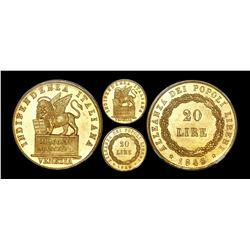 Venice (Italian States), 20 lire, 1848, revolutionary coinage, NGC MS 63 PL.