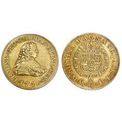 Mexico City, Mexico, bust 8 escudos, Ferdinand VI, 1748MF, PCGS XF45.
