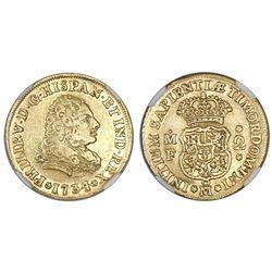 Mexico City, Mexico, bust 2 escudos, Philip V, 1734/3MF, NGC XF 45.
