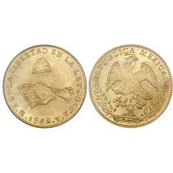 Guanajuato, Mexico, 8 escudos, 1862YE, NGC MS 62.