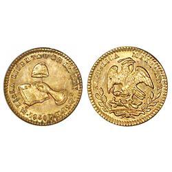 Mexico City, Mexico, 1/2 escudo, 1860/59FH, ANACS MS 63.