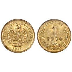 Mexico City, Mexico, 1 peso, 1899M, NGC MS 64.