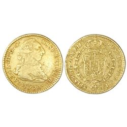 Lima, Peru, bust 2 escudos, Charles III, 1778MJ.