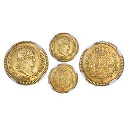 Lima, Peru, bust 1/2 escudo, Ferdinand VII, 1816JP, NGC AU 53.