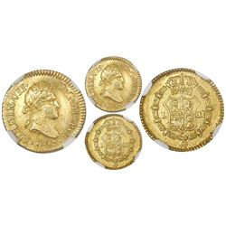 Lima, Peru, bust 1/2 escudo, Ferdinand VII, 1821JP, NGC AU 55.