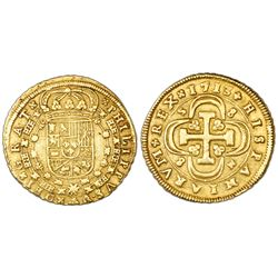 Seville, Spain, milled 8 escudos, Philip V, 1713M.