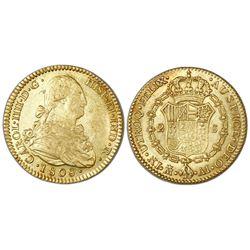 Madrid, Spain, bust 2 escudos, Charles IV, 1808AI.