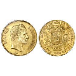 Venezuela, (100 bolivares), 1889, NGC AU 55.