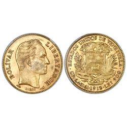 Venezuela, (20 bolivares), 1912, NGC MS 63.