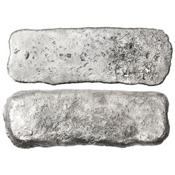 Silver  tumbaga  bar #M-145, 3409 grams, marked with assayer INo/DCBCA, YB13, S, fineness iUoiiii (1