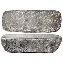 Large silver Atocha bar #27 from Potosi(?), 78 lb 10.56 oz troy, Class Factor 0.5, no visible markin