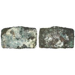 Atocha Copper ingot, 59 lb, ex-Atocha (1622).