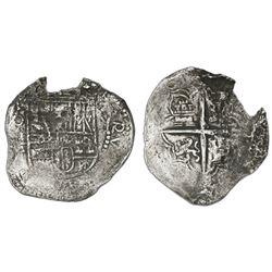 Potosi, Bolivia, cob 8 reales, Philip III, assayer M, Grade 2, certificate missing.