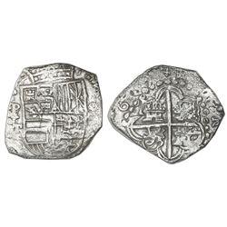 Potosi, Bolivia, cob 8 reales, (1)619T, Grade 1.