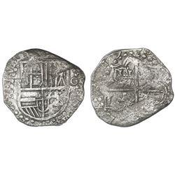 Potosi, Bolivia, cob 8 reales, (1)619(T), Grade 2, ex-San Diego Show auction (1987).