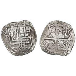Potosi, Bolivia, cob 8 reales, (162)0T, upper half of shield and quadrants of cross transposed, Grad