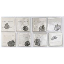 Lot of eight Potosi, Bolivia, cob 2 reales, Philip II and III, assayers not visible, no Grade (fragm