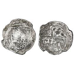 Mexico City, Mexico, cob 8 reales, Philip III, assayer F, Grade 2.