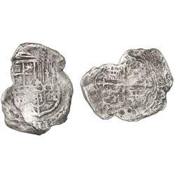 Mexico City, Mexico, cob 8 reales, Philip III, assayer not visible, Grade 2.