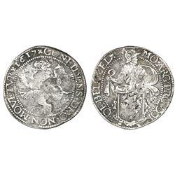 Zeeland, United Netherlands,  lion  daalder, 1617.
