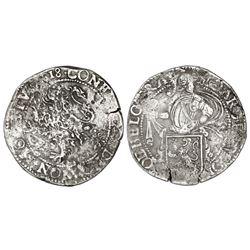 """Utrecht, United Netherlands, """"lion"""" daalder, 1618."""
