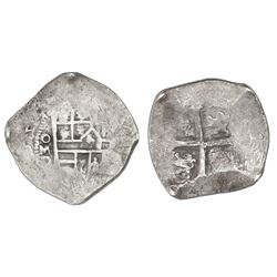 Mexico City, Mexico, cob 4 reales, (1)624/3D, rare.