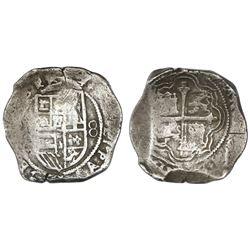 Mexico City, Mexico, cob 8 reales, (161)8/7(D), ex-Rudman.