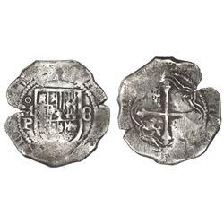 Mexico City, Mexico, cob 8 reales, (1)637P, rare, ex-Rudman.