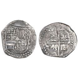 Potosi, Bolivia, cob 8 reales, Philip IV, 162(?)T.
