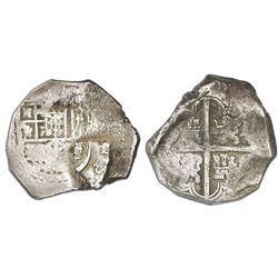 Seville, Spain, cob 8 reales, Philip IV, assayer not visible.
