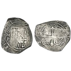 Mexico City, Mexico, cob 8 reales, Philip IV, assayer P.