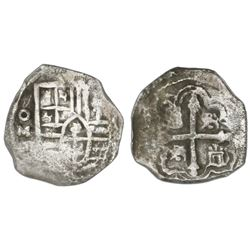 Mexico City, Mexico, cob 2 reales, Philip IV, assayer P.